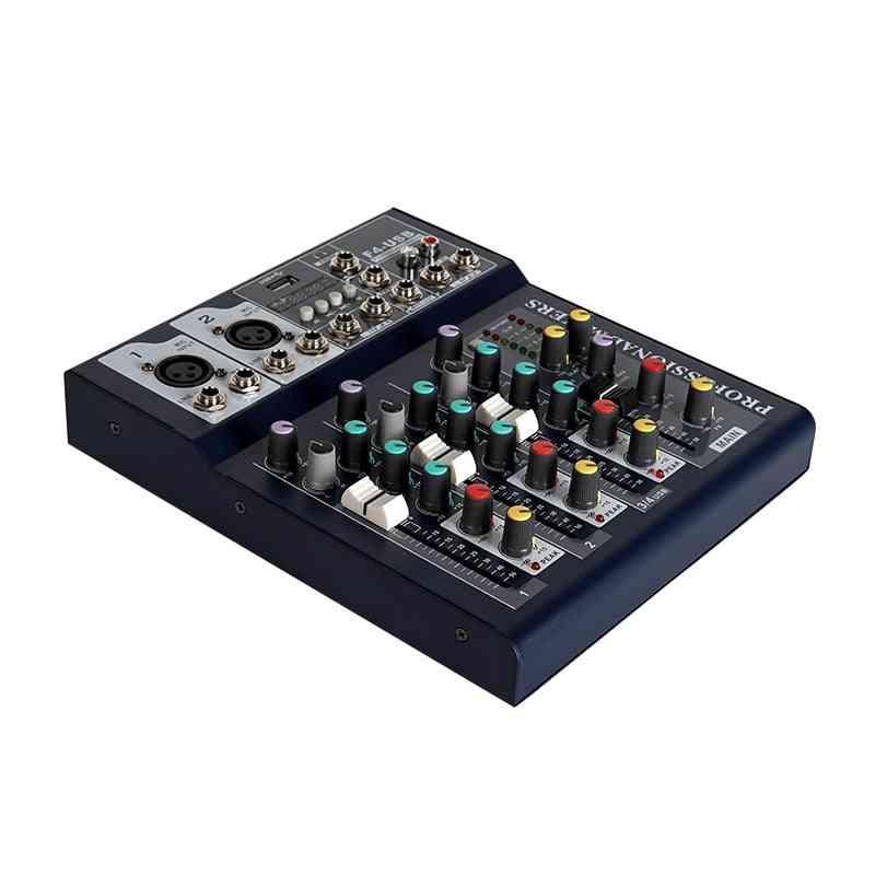 Bluetooth Audio Mixer, Usb Dj Sound Mixing Console, Mp3 Jack, Karaoke Amplifier System, Digital Mini Mixer