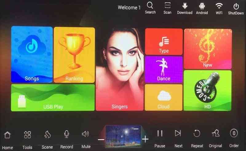 Capacitive Screen Karaoke Home System, Hdd Chinese English Songs, Cloud Songs, Player