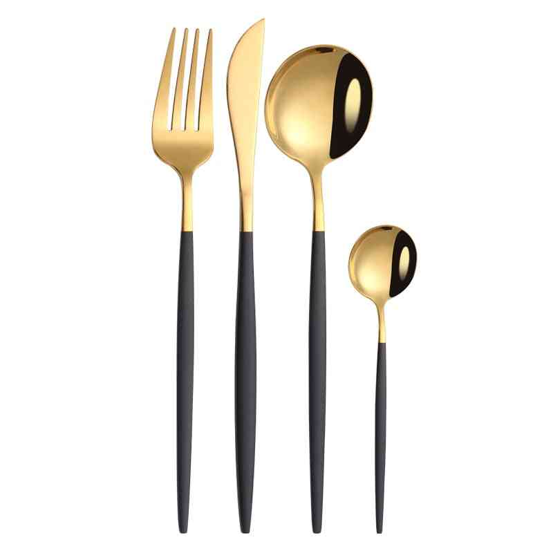 Black Gold Dinnerware Set