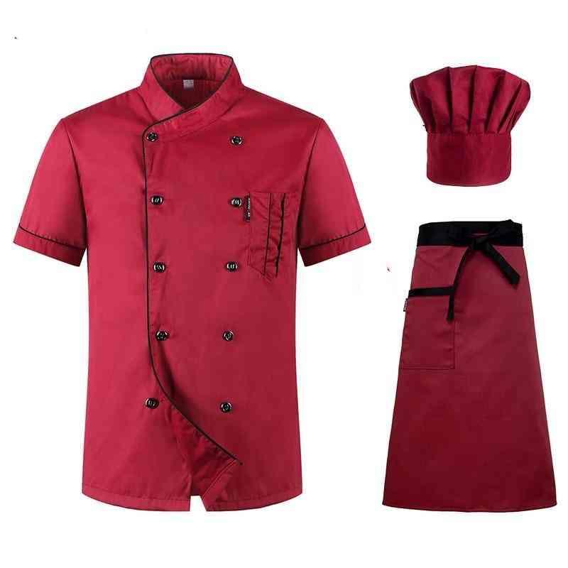 Short Sleeved Restaurant Chef Uniform