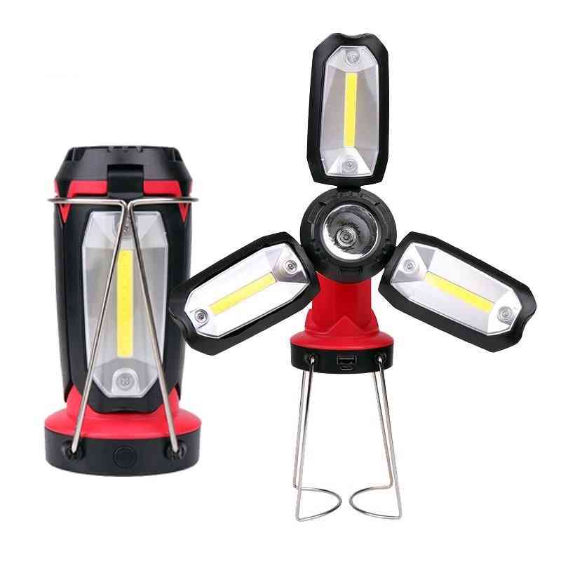 Cob Work  Led Flashlight / Emergency Multifunction Rechargeable Deformable Lighting