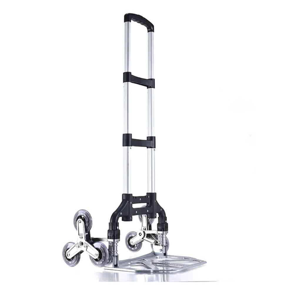 Folding Hand Truck Dolly Stair Climbing Cart With Shopping Bag Hand Cart Auto Travel