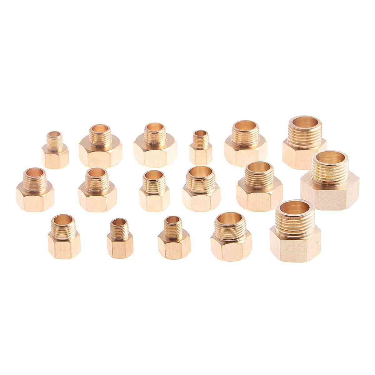 Male To Female Thread Brass Pipe Fitting Coupler Adapter Hex Pipe Connector Water Gas