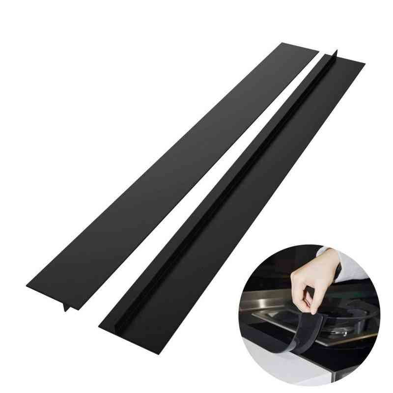 2pcs Kitchen Silicone Stove Counter Gap Cover Heat Resistant Mat
