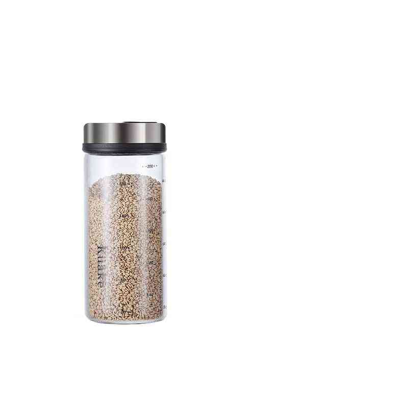 High Borosilicate Seasoning, Spice Shaker Kitchen Seal Bottle With Rotary Lid