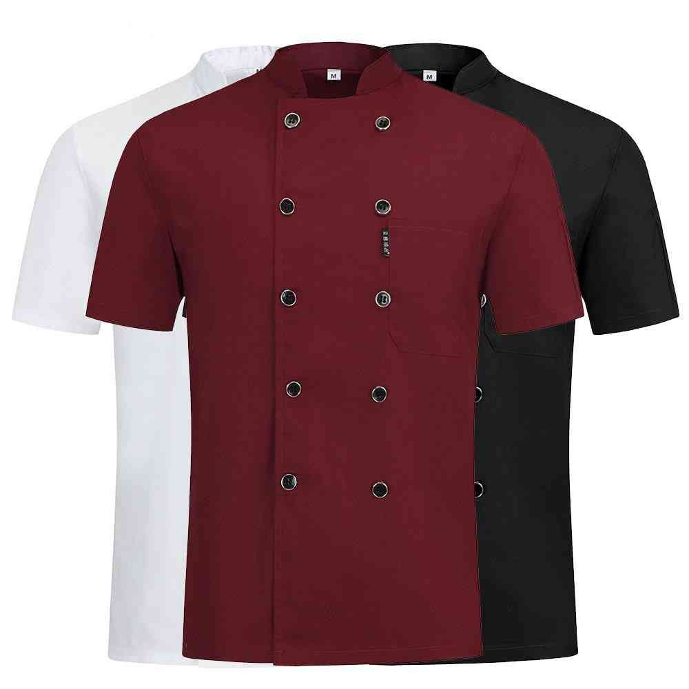 High Quality Double-breasted Chef Uniform Restaurant, Hotel, Kitchen Chef Clothes