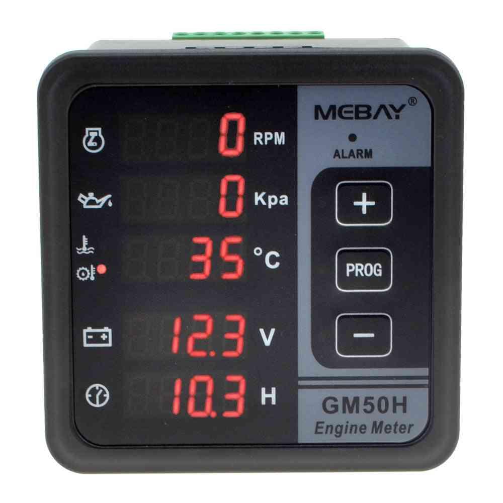 Engine Digital Multi-functional Meter, Diesel Monitor With Oil Pressure Gauge, Rotating Speed, Temperature