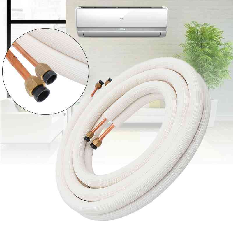 Insulated Copper Air Conditioner Pipes, Fittings Pair Coil Tube