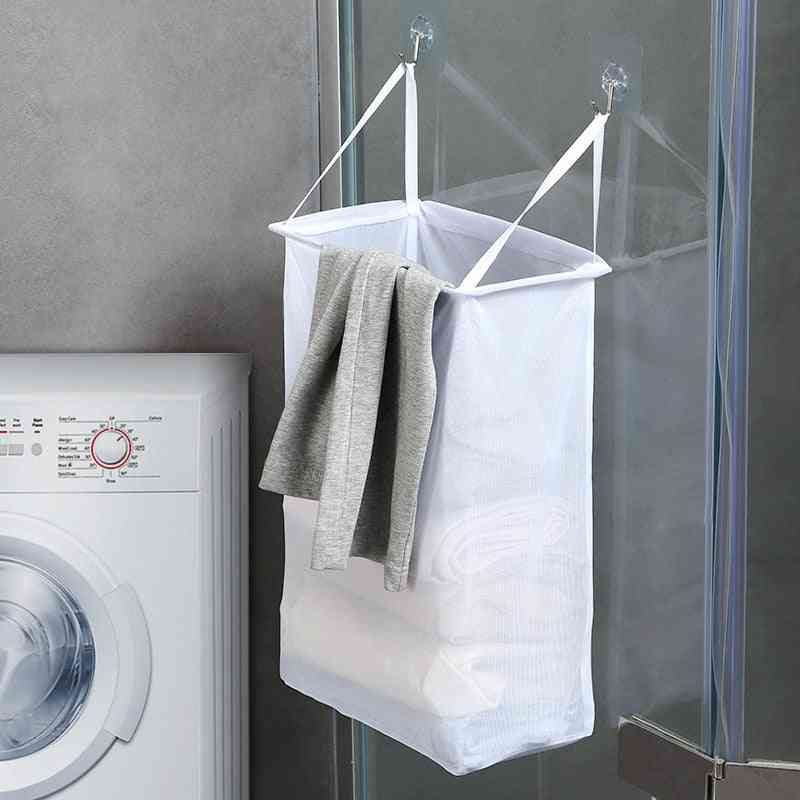 Household Wall-mounted Laundry Basket, Dirty Clothes Storage Organizer