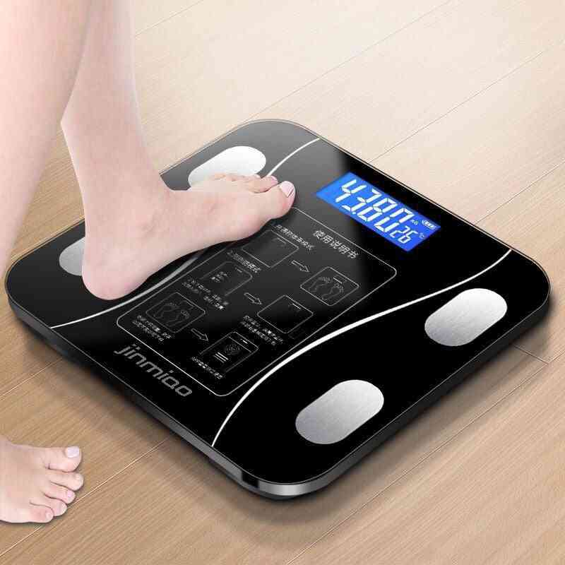 Digital Weight Scale Tracks 9 Key Body Fitness Compositions Health Analyzer