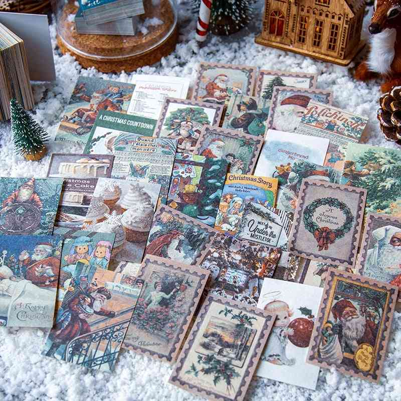 Vintage Christmas Material Paper Scrapbooking Making Journaling Project Diy Diary Decoration Lomo Cards