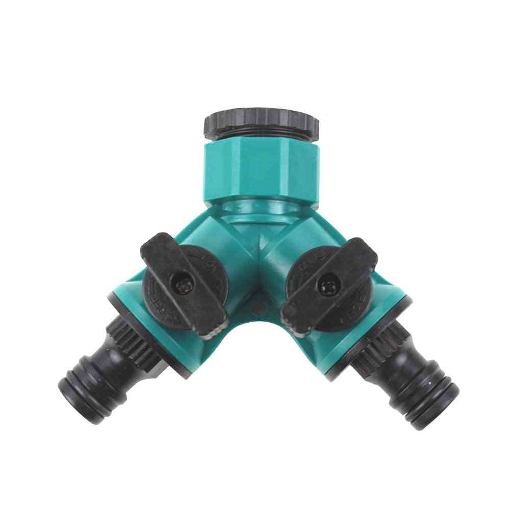 Irrigation Y Shape Tap Connector Adapter Splitter Quick Coupling Drip