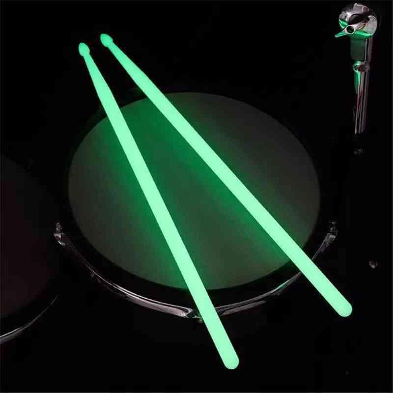 Luminous Drum Stick Set, Fluorescent Drumsticks, Glow In The Dark