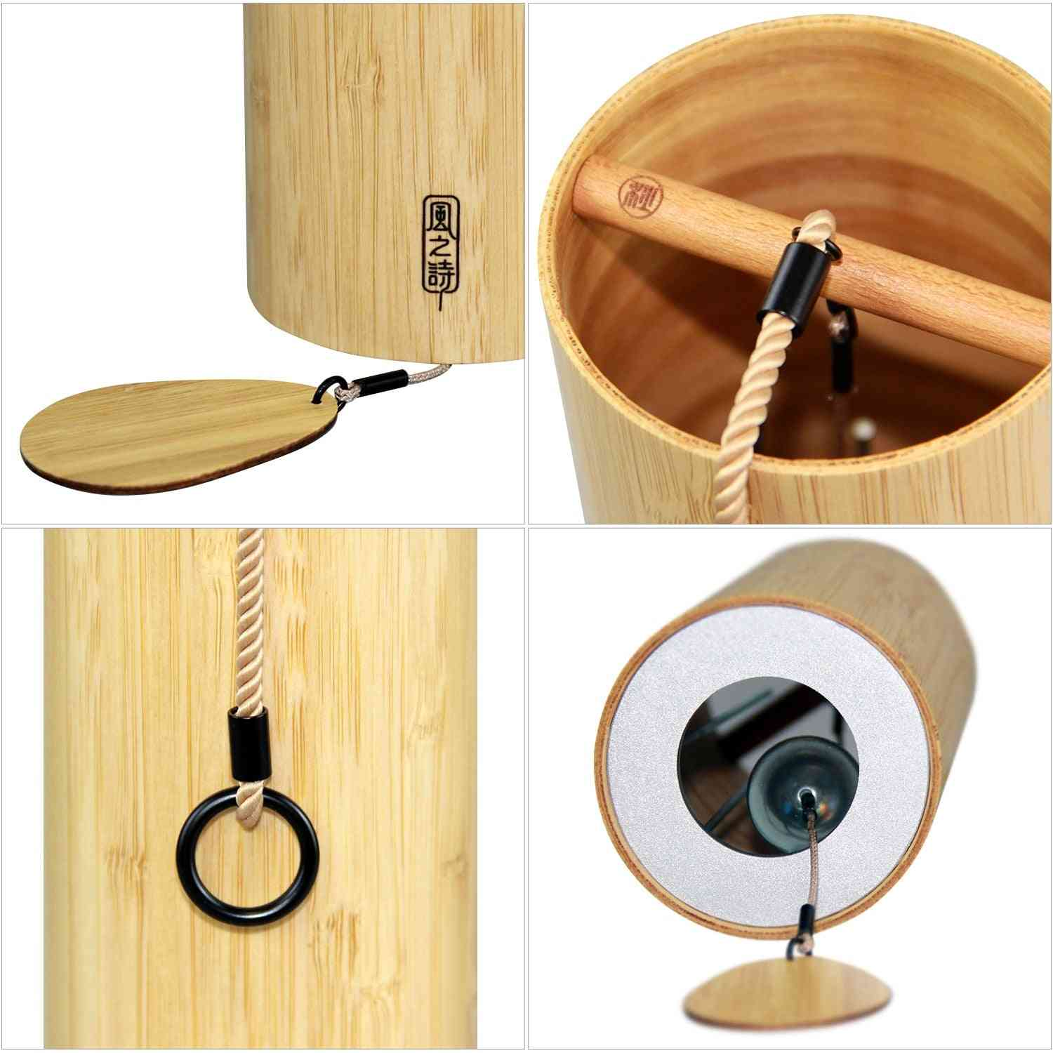 Bamboo Wind Chimes, Wind Bell For Outdoor Garden, Patio Home Decoration, Zen Meditation, Relaxation, Chord