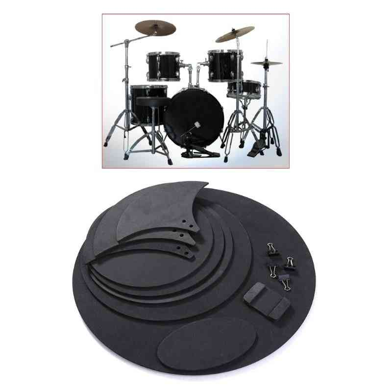 Bass Snare Drum Sound, Off Mute Silencer Drumming Rubber Practice Pad Set