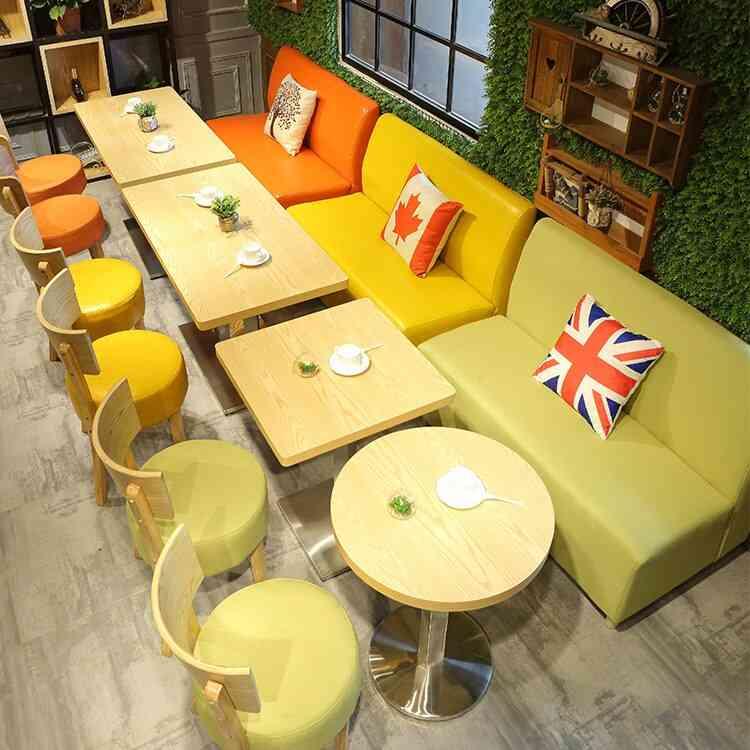 Milk Tea Shop Tables Chairs Leisure Card Slot Sofa