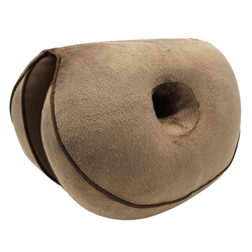 Women Dual Comfort Orthopedic Cushion Pelvis Pillow Lift Hips Up Seat Cushion