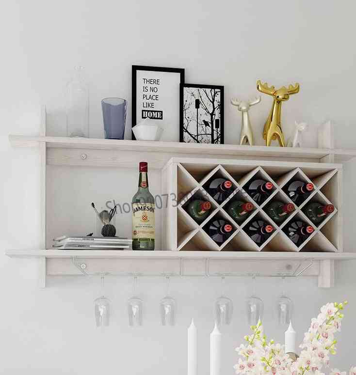 Wine Lattice Modern Simple Hanging Restaurant Wine Cabinet