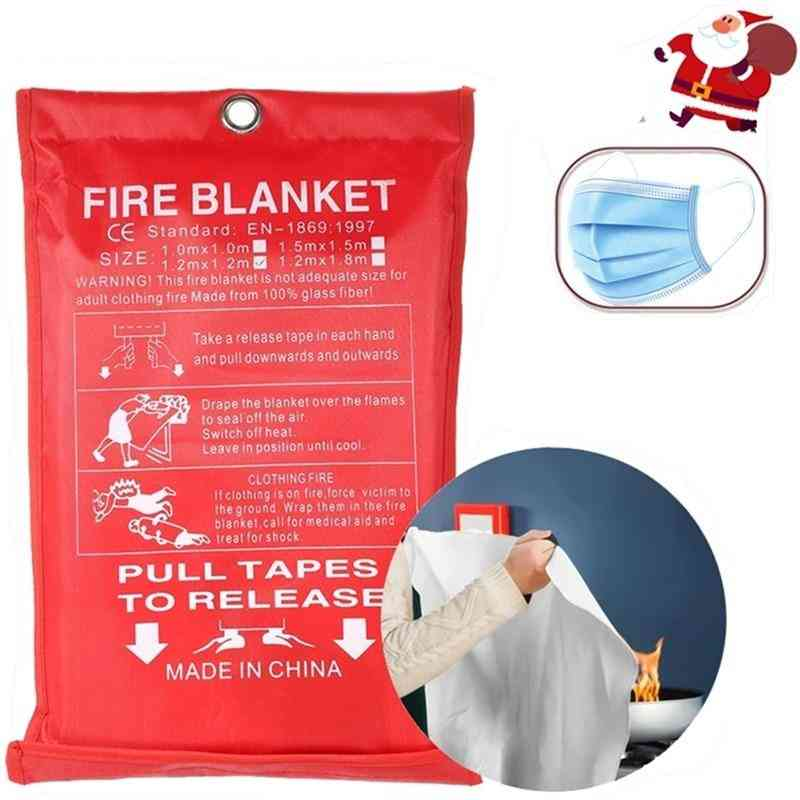 Fireproof Blanket, Glass Fiber Fireproof And Flame Retardant Emergency Survival Shelter, Fireproof Emergency Blanket