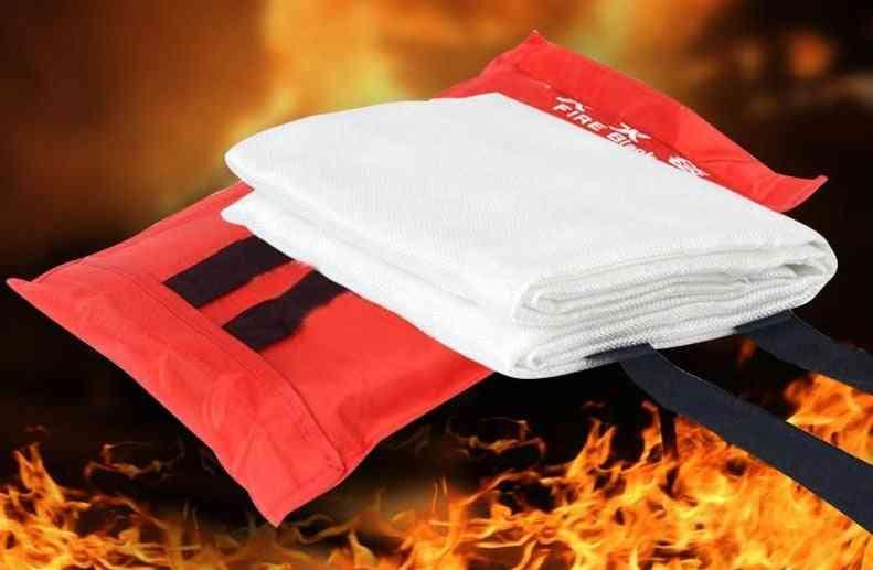 Blanket Fiberglass Flame Retardant Emergency Survival Fire Shelter Safety Cover