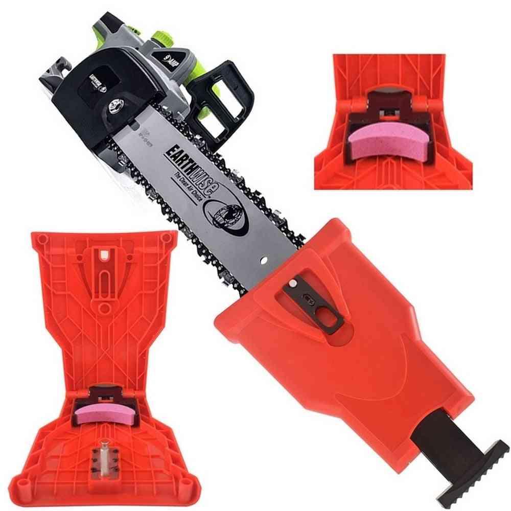 Chainsaw Teeth Sharpener Bar-mount, Fast Grinding Sharpening, Woodworking Tools Accessories, Sharpen Diy