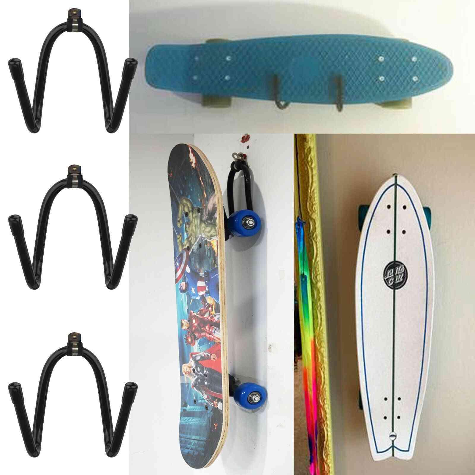 Skateboard & Scooter Wall Hanger Rack, Mount Decks, Longboard Display