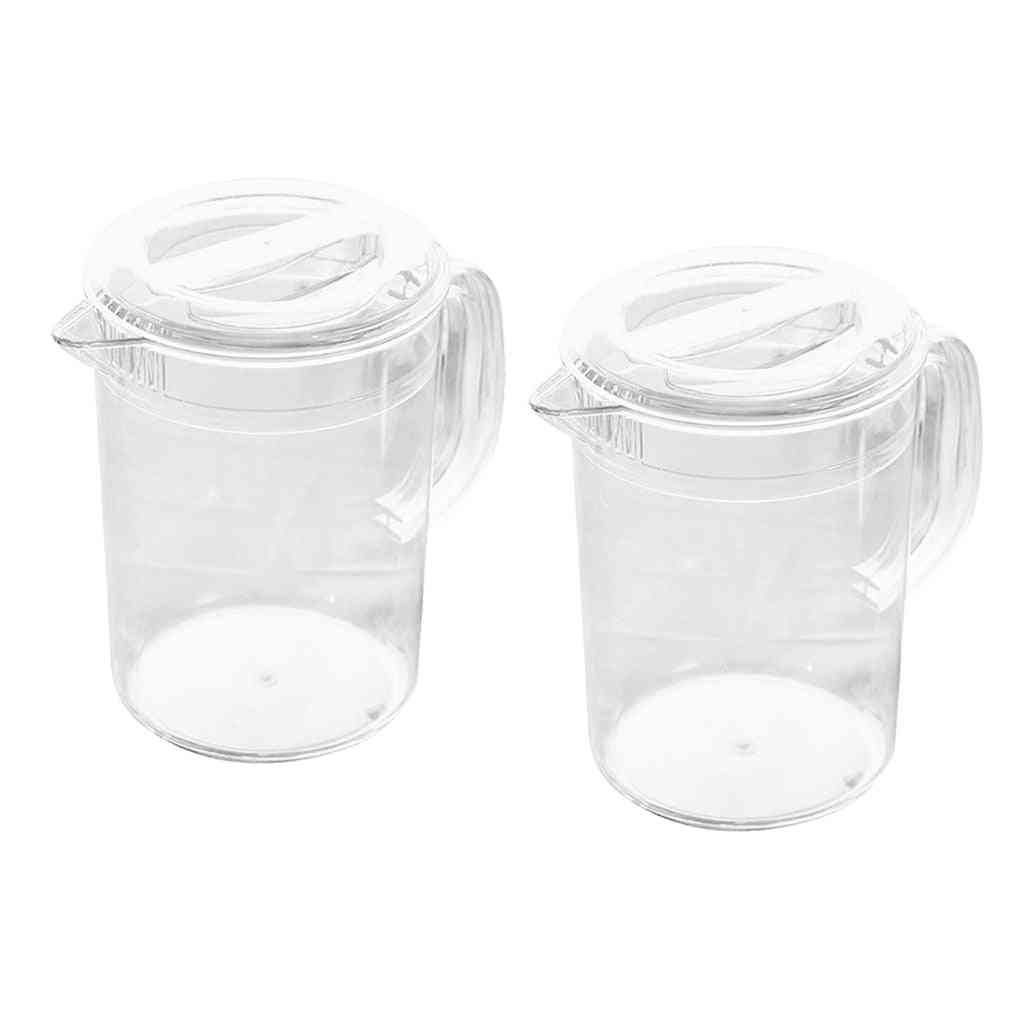 Clear Acrylic Pitcher For Water Tea Milk Beverage Pots