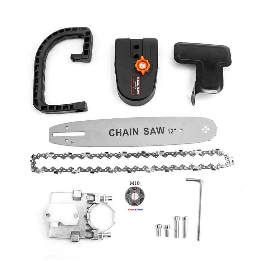 Electric Chain Saw, Adapter Converter Bracket, Diy Set For Angle Grinder, Woodworking Tool