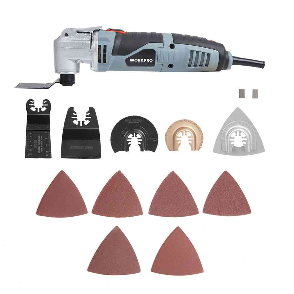Multi-tool, Multifunction Power Tools, Home Renovator, Diy Woodworking With Accessory Kit