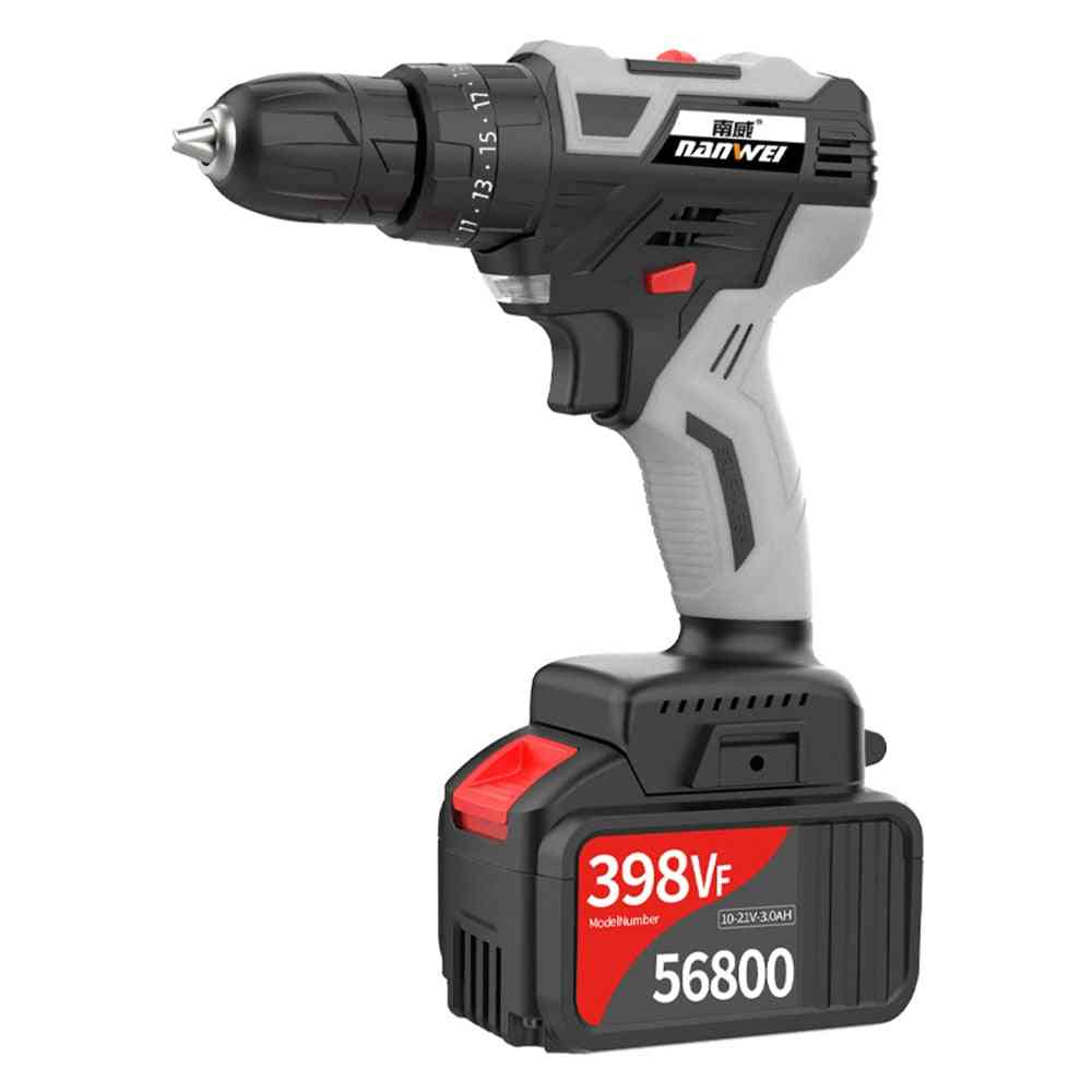 Brushless, Cordless, Electric Drill Power Tools, Hammer Industrial