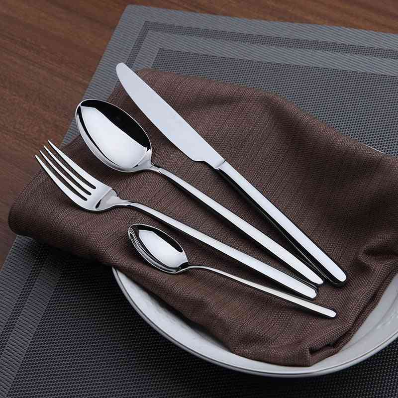24 Pieces Stainless Steel Western Tableware Classic Dinner Set
