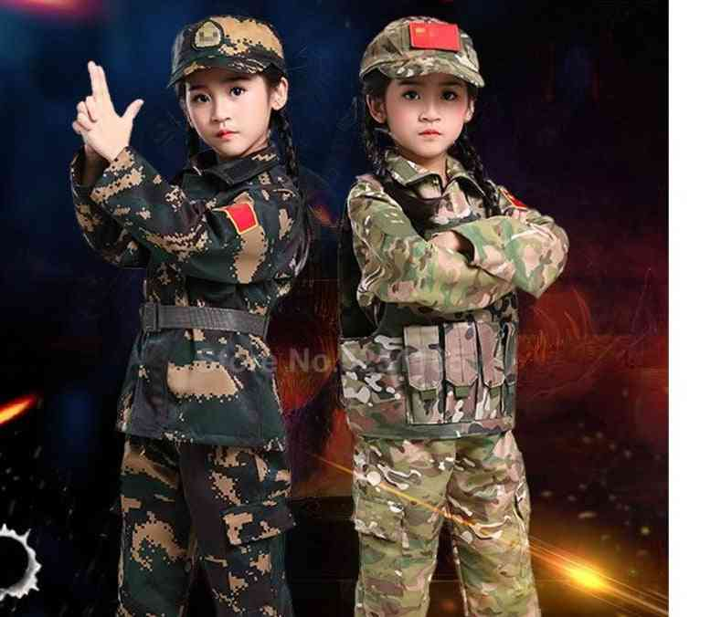 Halloween Carnival Camouflage Army Military Uniforms Kid