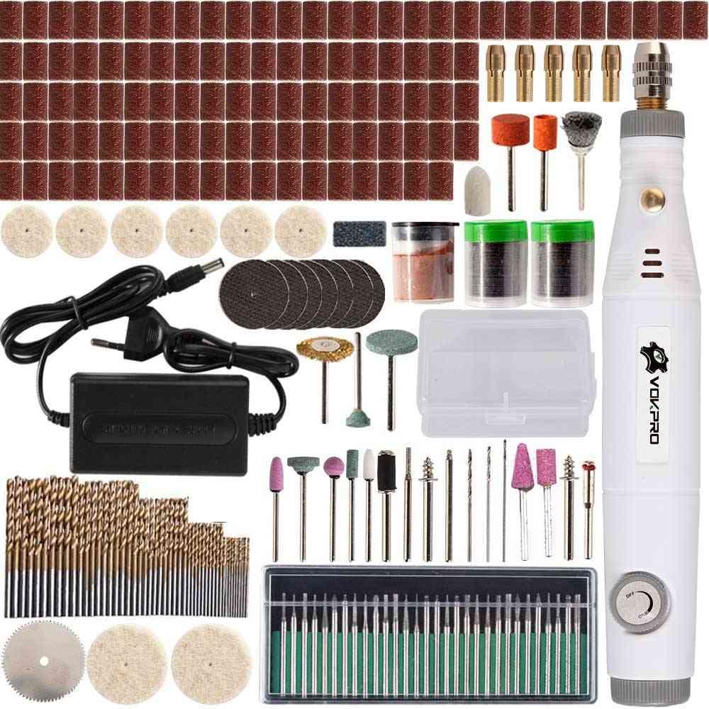 Engraving Pen, Mini Drill Adjustable Speed Tool, Grinding Accessoraies Set, Multifunction Engraving Tools