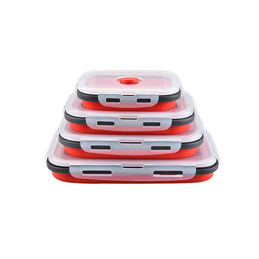 Silicone Collapsible Outdoor Lunch Box, Food Storage Container