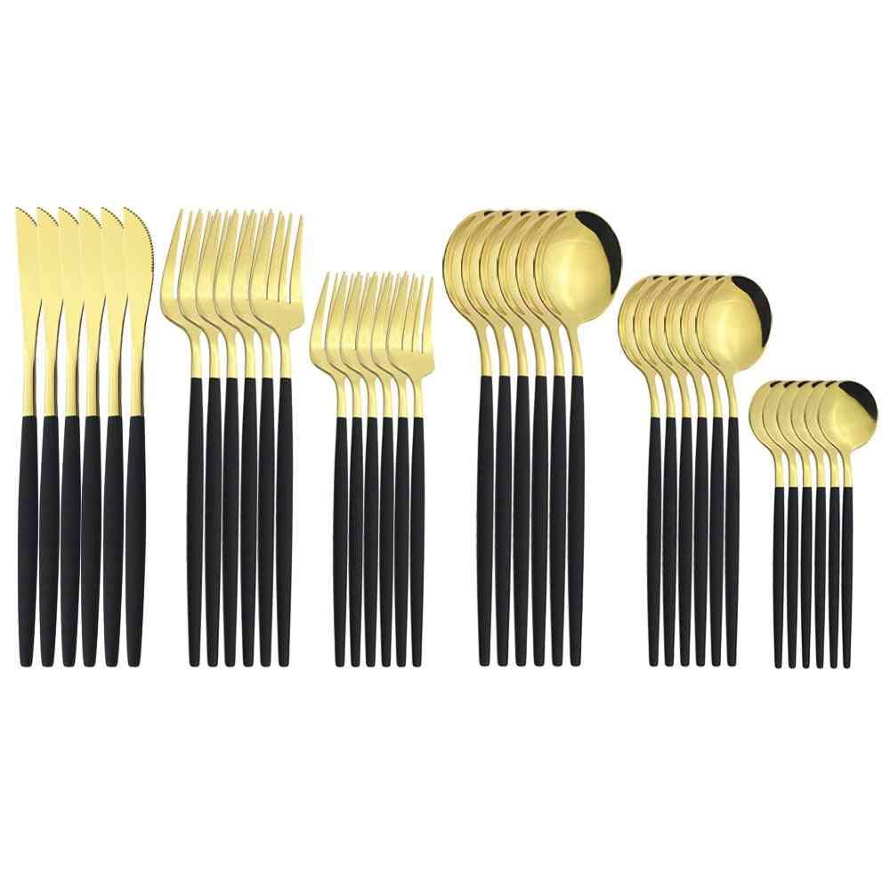 36pcs Stainless Steel Tableware Cutlery Set