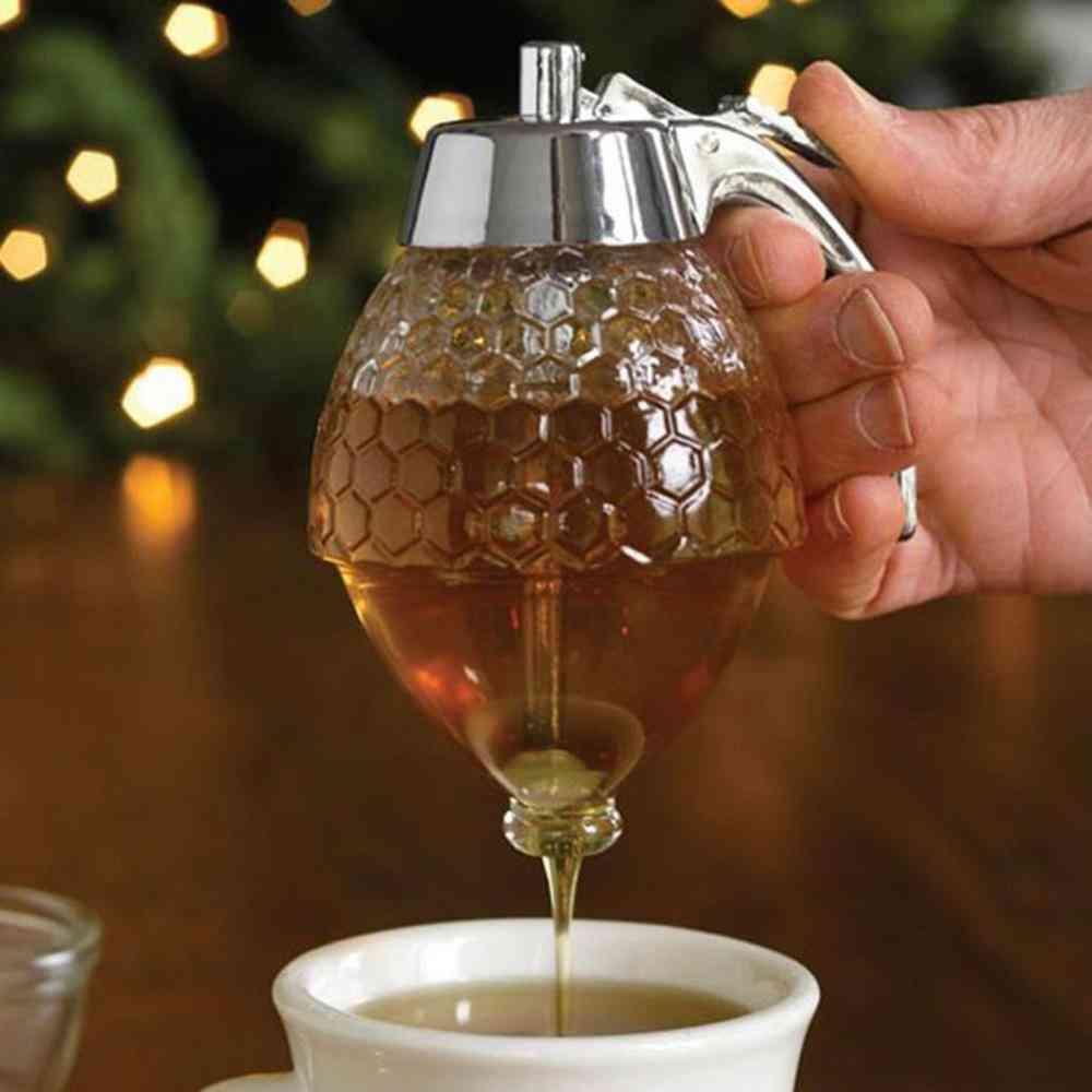 Squeeze Bottle Honey Jar Container, Bee Drip Dispenser Kettle Storage Pot