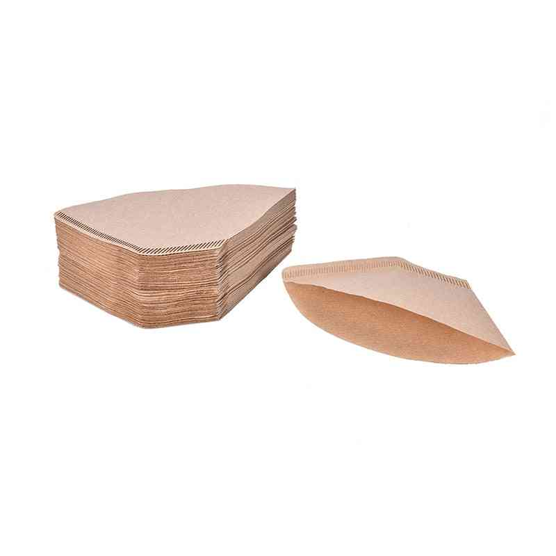 Wooden Original Hand Drip Paper Coffee Filter Papers