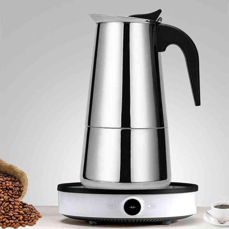 Stainless Steel Coffee Maker Moka Pot