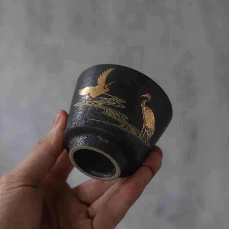 Black Crockery Ceramic Porcelain Tea Cup