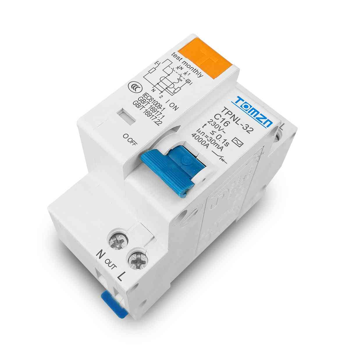 Residual Current Circuit Breaker With Over And Short Current Leakage Protection