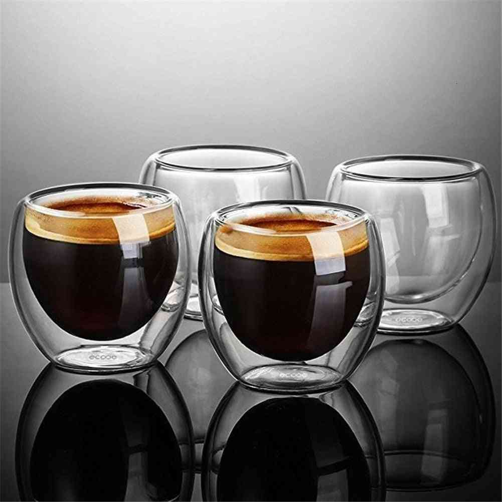 Simplicity Heat-resistant Double Wall Shot, Coffee Cup Tea Set