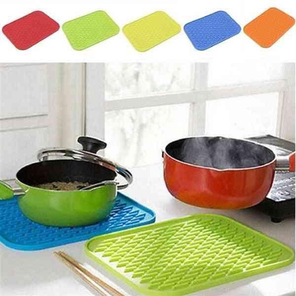 Non-slip Resistant Trivet Pot Tray Straightener Insulation Mats