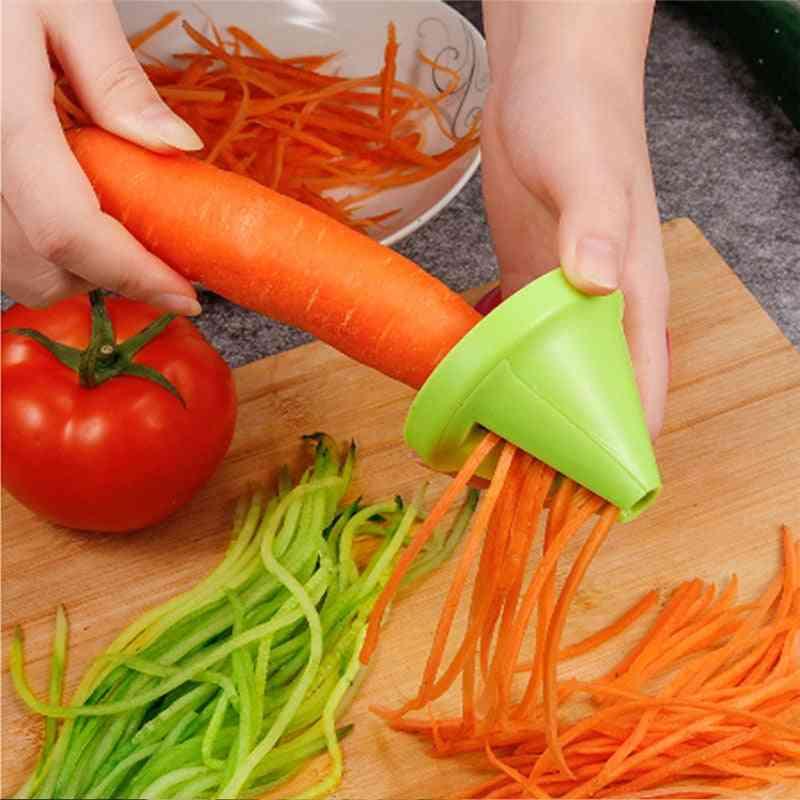 Vegetable Rotating Shredder Grater Spiral Peeler