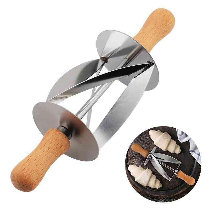 Stainless Steel Rolling Croissant Cutter