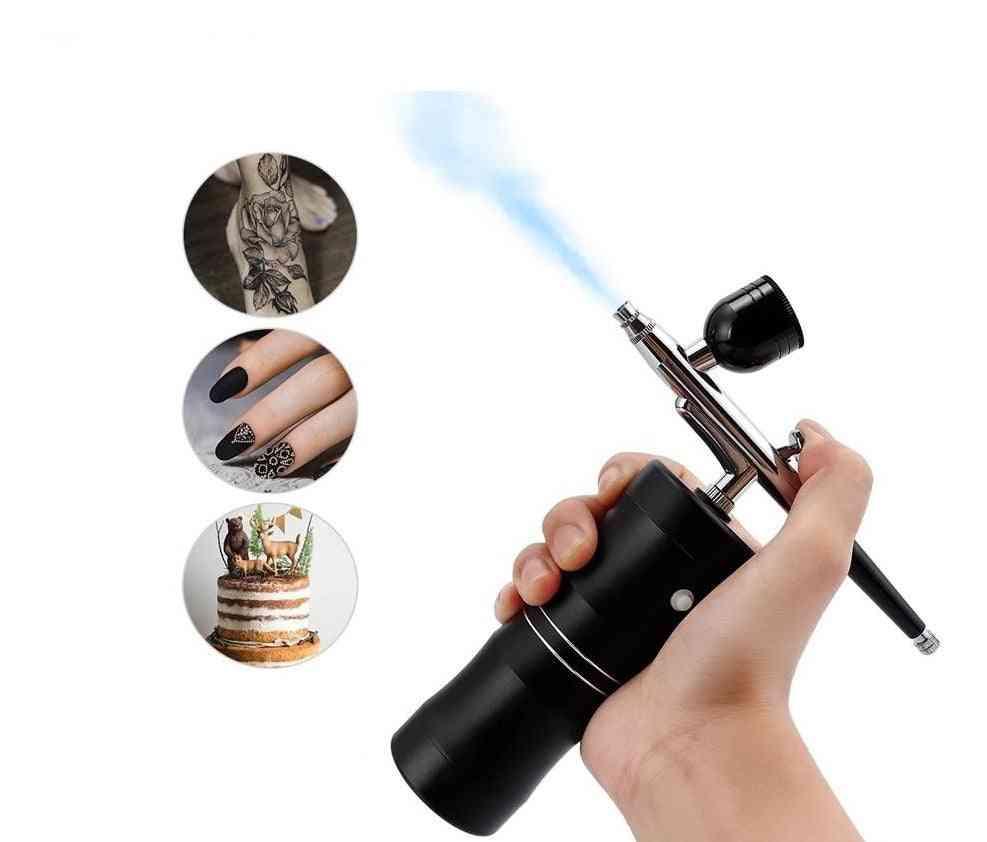 Multi-purpose Cordless Mini Airbrush Set Spray Pump Gen Pen Air Compressor