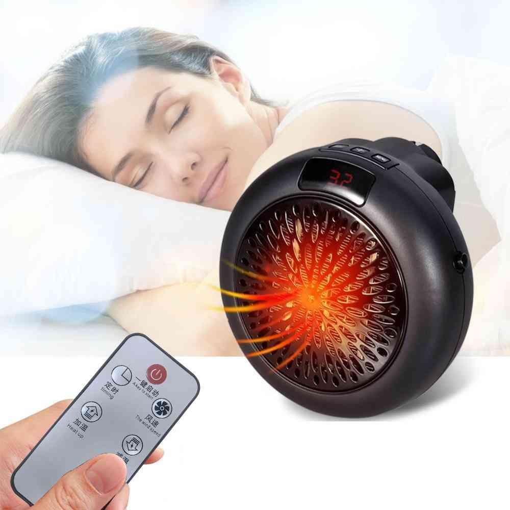 Mini Desktop Warm Air Heater Warmer Fan Silent Remote Fast Heat Thermostat