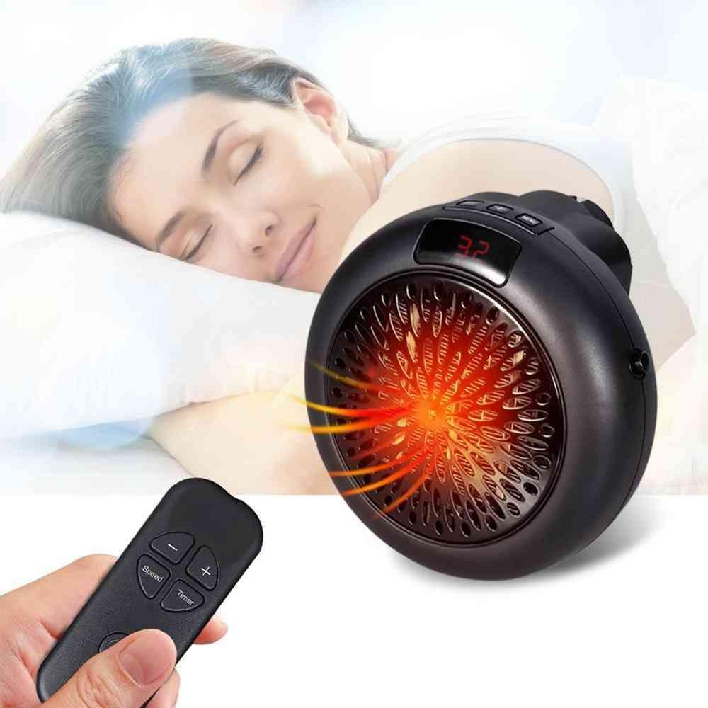 Electric Space Heater Mini Desktop Warm Air Heater Warmer Fan