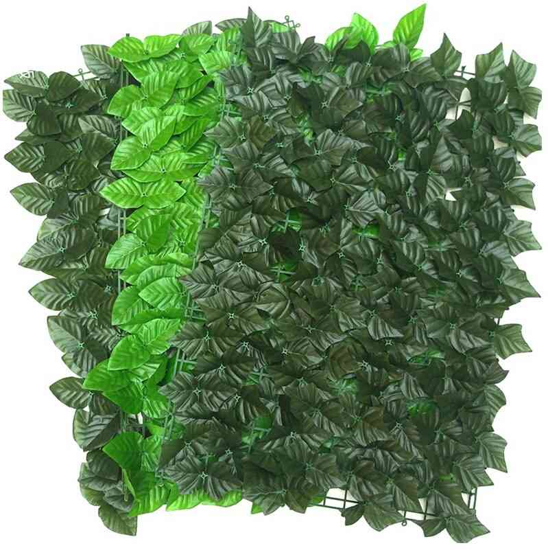 Uv Protection Artificial Balcony Green Leaf Fence