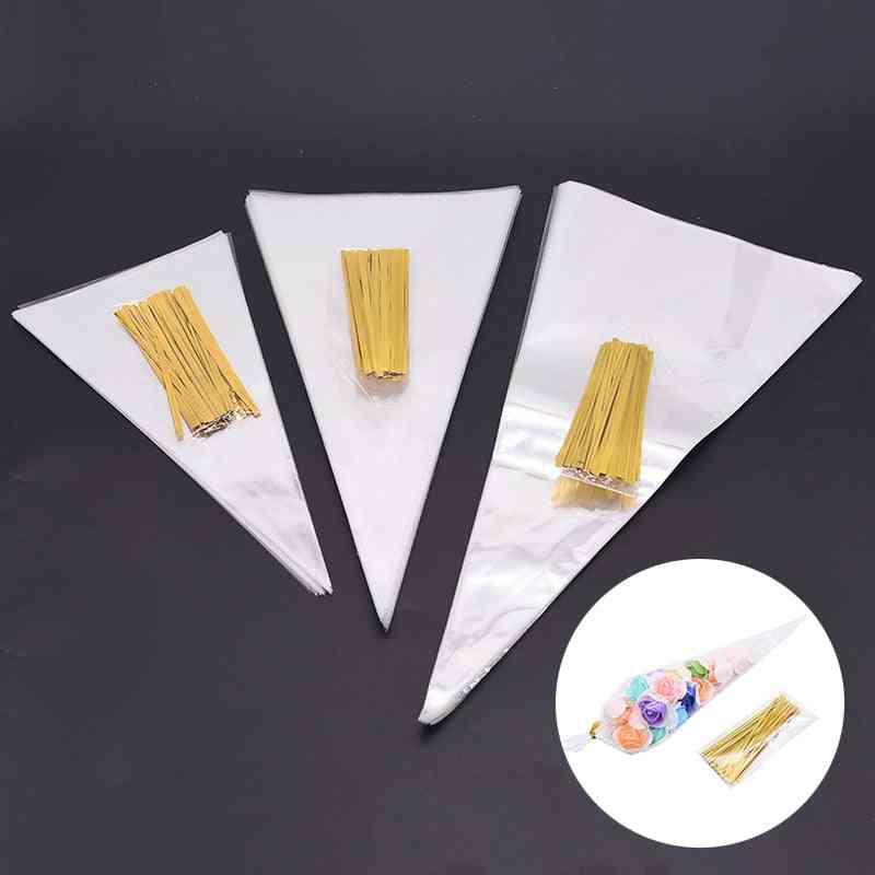 Transparent Cone Candy Bag
