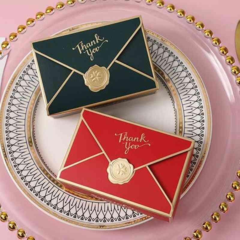 Simple Creative Bronzing Packaging Envelope Shape Box